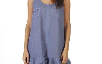 Dámské modré šaty na ramínka Ada Gatti