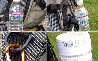 Hliníkový držák na láhev s karabinou a kompasem - 2ks a poštovné ZDARMA! - 30602023
