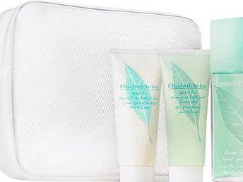 Elizabeth Arden Green Tea EDP dárková sada W - Edp 100ml + 100ml tělový krém + 100ml sprchový gel + kosmetická taška