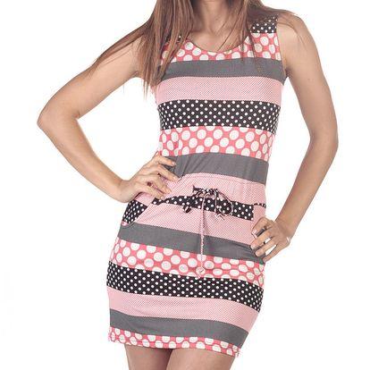 Dámské šaty s puntíkovanými pruhy Azura
