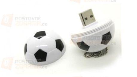 4GB Flashdisk ve tvaru fotbalového míče - černobílý a poštovné ZDARMA! - 30500767