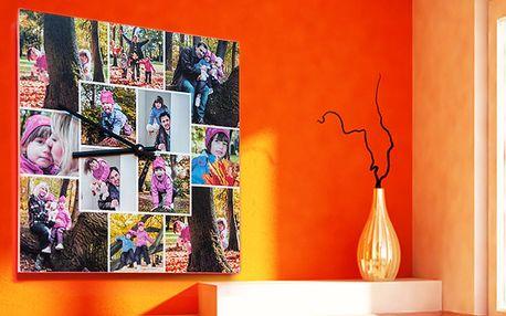 Fotohodiny s vlastní fotografií, kapa deska, 28 x 28 cm