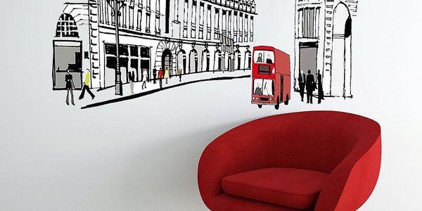 Už žádné holé zdi, samolepka na stěnu London Street, 60x90 cm