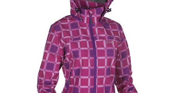Dámská růžová kostkovaná softshellová bunda Kilpi