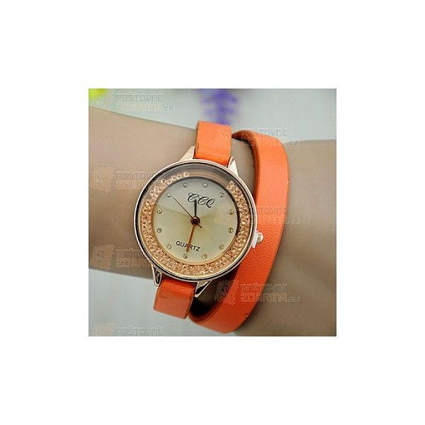 Náramkové hodinky s pohyblivými kamínky a poštovné ZDARMA! - 30314261