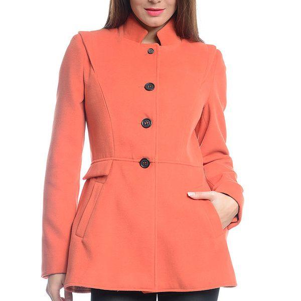 Dámský oranžový krátký kabát Vera Ravenna
