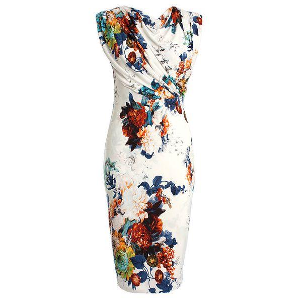 Dámské květované šaty s průstřihem JDC London