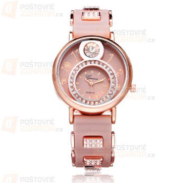 Netradiční hodinky Geneva s kamínky a poštovné ZDARMA! - 30114253