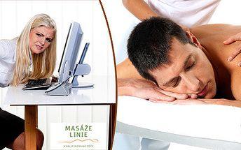 65 minut masážní terapie s rašelinovým zábalem pro počítačové workoholiky