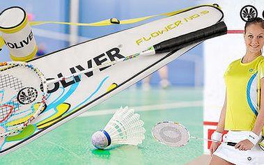 Badmintonový set Oliver s květinovým vzorem