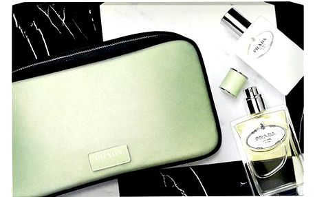 Prada Infusion D' Iris EDP dárková sada W - Edp 100ml + 100ml tělové mléko + toaletní taška