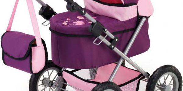 Bayer Design Trendy kočárek pro panenky lila/pink