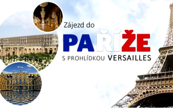 2198Kč za zájezd do Paříže včetně prohlídky Versailles 14. - 17.11.2014 po 45% slevě!! Jedině s iLoveTravel.cz za nejlepší cenu na trhu. Cena včetně dopravy a noclehu!