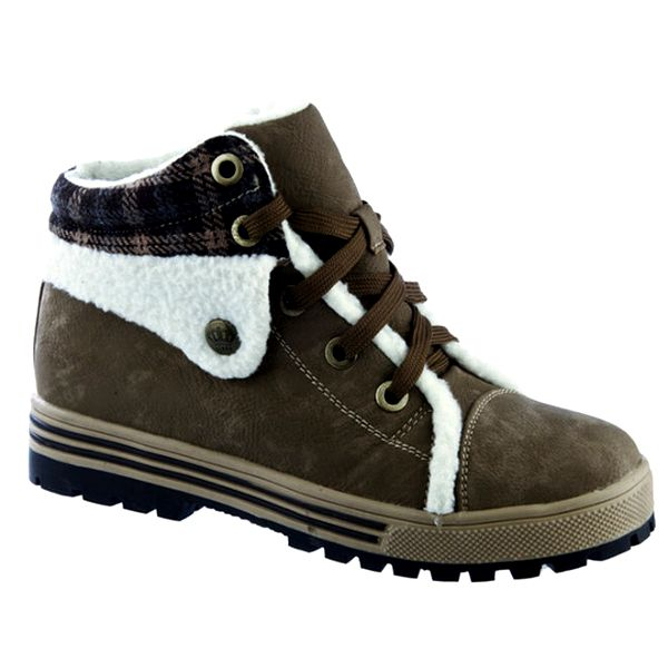 Dámské khaki kotníkové boty Keddo