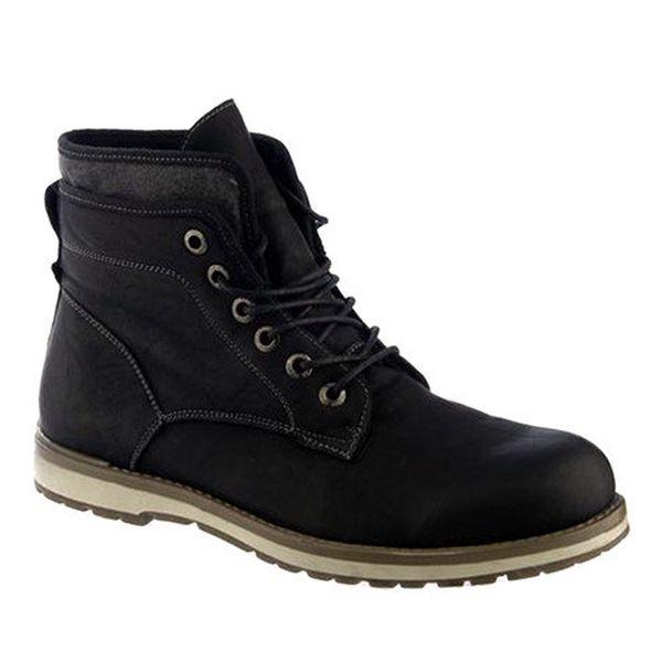 Pánské černé kotníkové boty Keddo