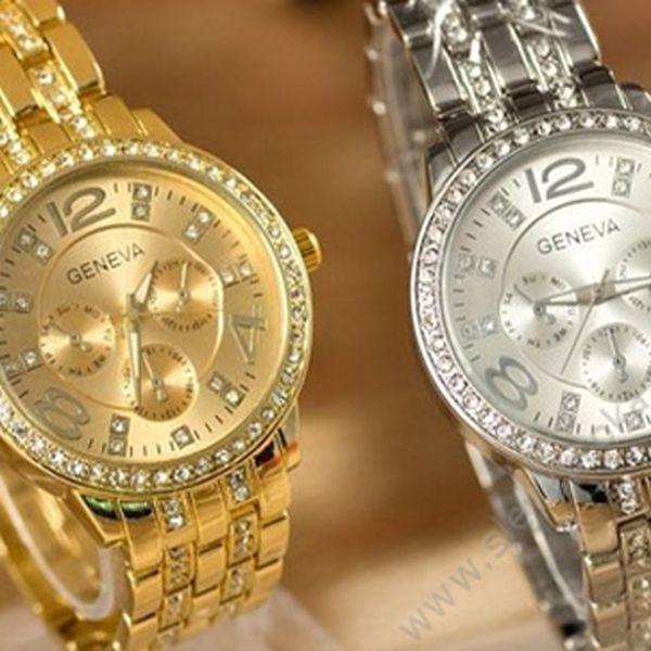 Kasovní trhák! Dámské hodinky Geneva s crystaly Elements