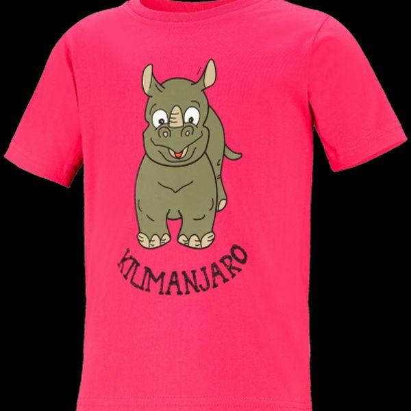 Bavlněné tričko pro děti s kulatým výstřihem