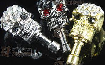 Ozdoba do sluchátkového konektoru - lebka a poštovné ZDARMA! - 30314224