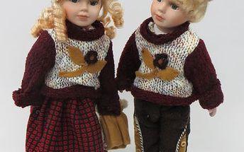Porcelánové panenky Ellen a Jimmy 40cm