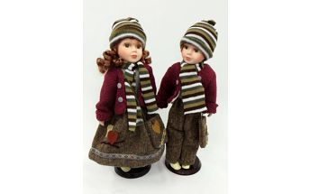 Porcelánové panenky Nataly a Stuard 40cm