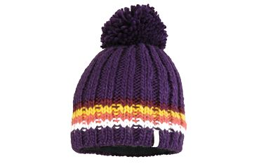 Darren Beanie blackberry purple/golden yellow