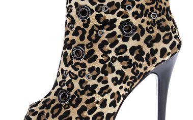 Dámské leopardí kotníkové boty 1to3