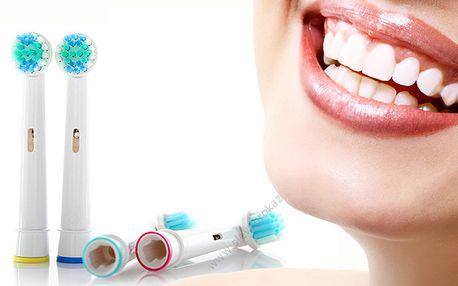 4 ks univerzálních hlavic na kartáčky Oral-B s poštovným