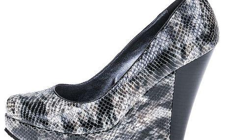 Dámské boty na platformě s hadím vzorem 1to3