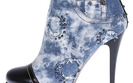 Dámské džínové kotníčkové boty 1to3