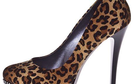 Dámské lodičky s leopardím vzorem 1to3