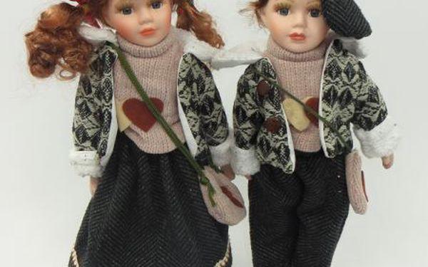Porcelánové panenky Samantha a Henry 40cm