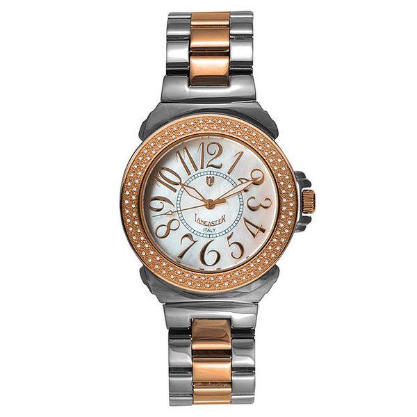 Dámské hodinky s diamanty a perleťovým ciferníkem Lancaster