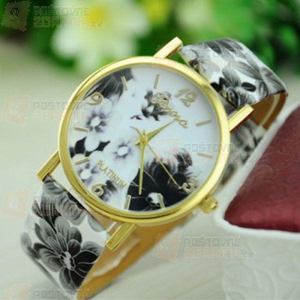 Krásné hodinky Geneva s květinami v 8 barvách a poštovné ZDARMA! - 30514235