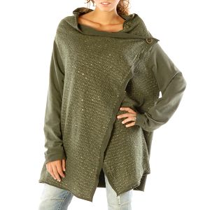 Dámský lehký zelený kabátek s flitry Silvana Cirri