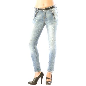 Dámské světle modré džíny s oděrkami Silvana Cirri