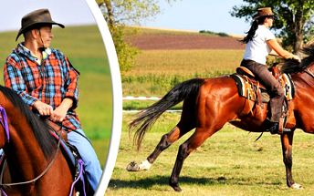 60min westernová vyjížďka na koni