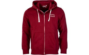 Russell Athletic ZIP THROUGH HOODY červená L