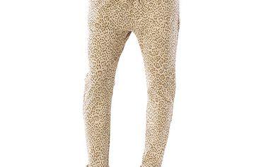 Dámské béžové kalhoty s leopardím vzorem Silvana Cirri