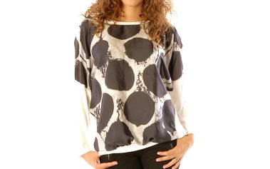 Dámský krémový top s velkými puntíky Silvana Cirri