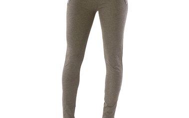Dámské šedé kalhoty se zlatými zipy Silvana Cirri