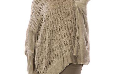 Dámský šedý asymetrický svetřík a tričko s dlouhým rukávem Silvana Cirri