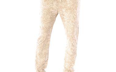 Dámské béžové žíhané kalhoty Silvana Cirri