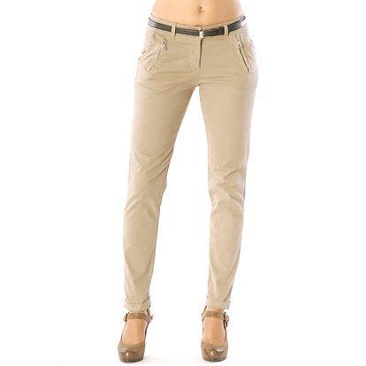Dámské béžové kalhoty Silvana Cirri