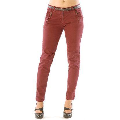 Dámské červené kalhoty Silvana Cirri