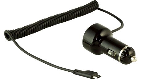 Yenkee Micro USB nabíječka do auta s portem USB