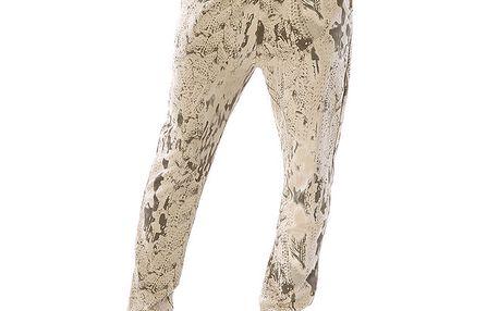 Dámské hnědé kalhoty se vzorem Silvana Cirri