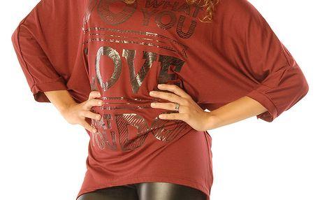 Dámský top v červeném odstínu Silvana Cirri