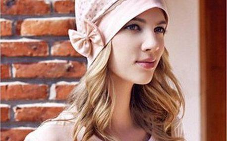 Bavlněná čepice s mašlí a puntíky!