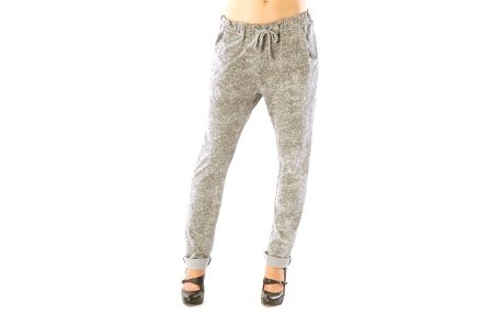 Dámské šedé žíhané kalhoty Silvana Cirri