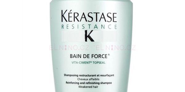 Kérastase Resistance Bain De Force 500ml Šampon na poškozené, barvené vlasy W Pro oslabené vlasy
